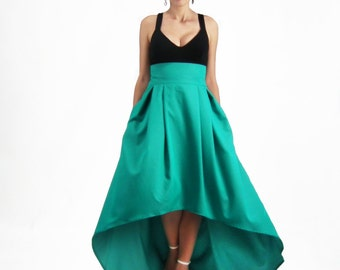 Maxi Skirt Long Skirt High Low Skirt Plus Size Skirt High