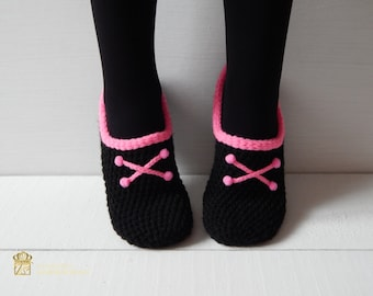 WOMAN SLIPPER /Crochet Slippers. Home shoes. EMOstyle