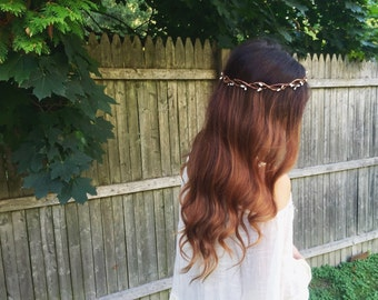 Dainty White Pip Circlet, Bridesmaid Flower Crown
