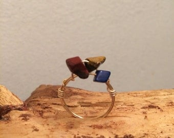 Multistone boho ring