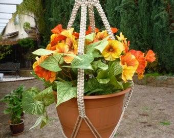 Macrame plant hanger. 70's SunRay style