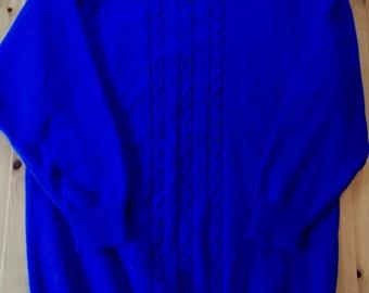 80s O.H.I Blue Sweater Tunic