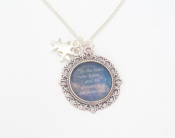 A Court of Mist and Fury Quote Necklace