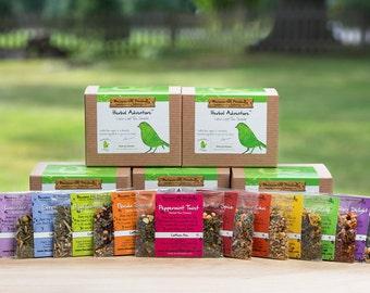 HERBAL TEA SAMPLER Gift Set, Loose Leaf Tea, Herbal Tea Gift Set, Happy Birthday Gift, Christmas Gift Idea