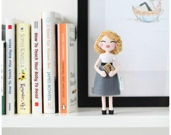 Specialty art doll. Handmade felt doll. American Poet - Limited Edition