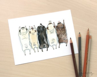 """Shop """"pugs"""" in Drawing & Illustration"""