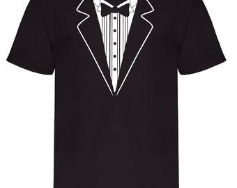 Tuxedo t shirt | Etsy