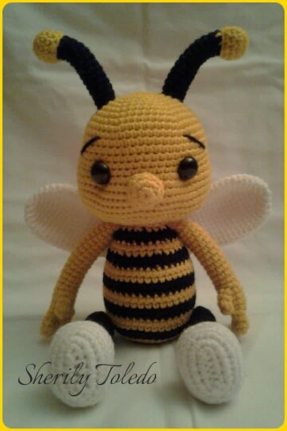 Amigurumi Bee Girl Free Pattern : PATTERN Baby Bee Bumble Crochet Amigurumi Pattern