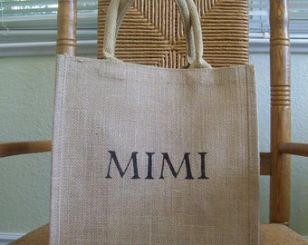 Mimi tote bag, Tote bag, Gigi gift, Personalized tote, Grandparent gift, Mother's day gift, FREE SHIPPING!