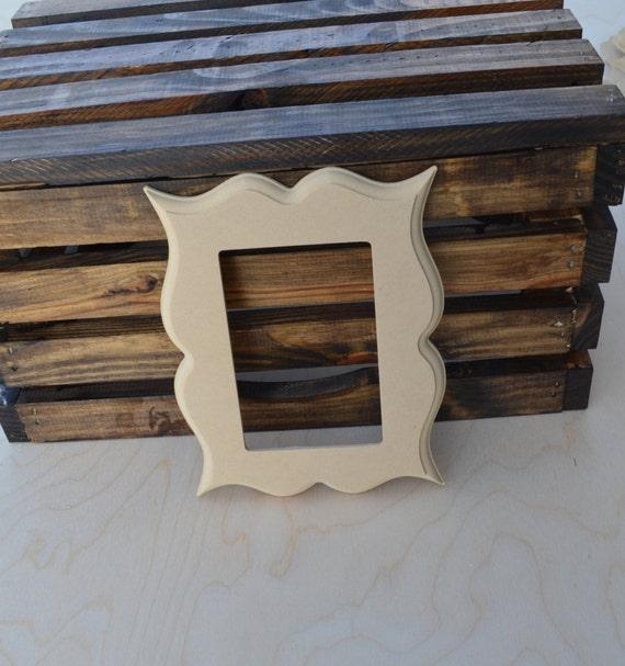 5x7 unfinished whimsical picture frame wood picture frame. Black Bedroom Furniture Sets. Home Design Ideas