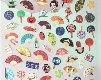 Japanese theme sticker, Japan fan sticker,Japan little things stickers,craft supply,scrapbook supply,diary sticker,colorful sticker