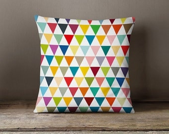 Geometric pillow cover with colourful flags,geometric pillow cover,modern cushion,decorative pillow,living room decor,geometric cushion