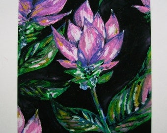 Pastel Drawing Flowers