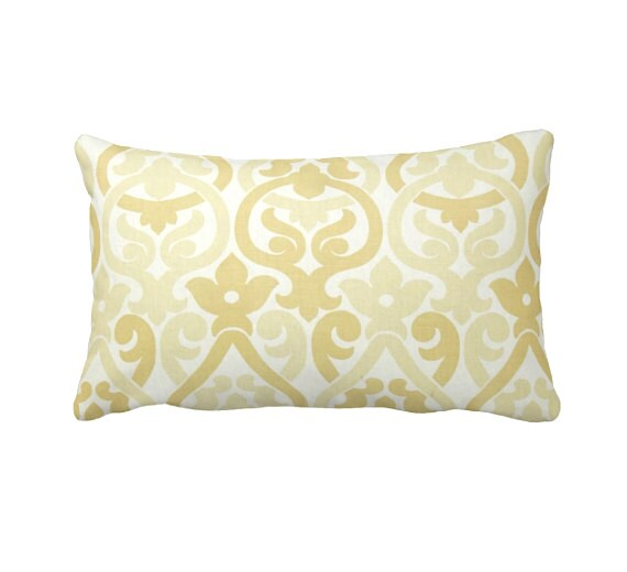 7 Sizes Available: Yellow Throw Pillows Yellow Pillow Cover