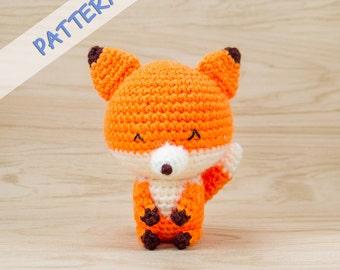 Fox Crochet Pattern - Amigurumi Fox Pattern - Stuffed Animal Pattern - Amigurumi Animal Pattern - Fox Plush Pattern - Crochet Animal Pattern
