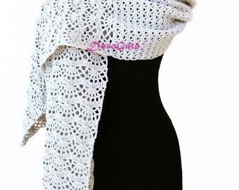 Crochet shawl pattern, stole pattern, woman rectangle shawl, Crochet Shawl PATTERN, pattern shawl, stole pattern, Instant Download  /1010/