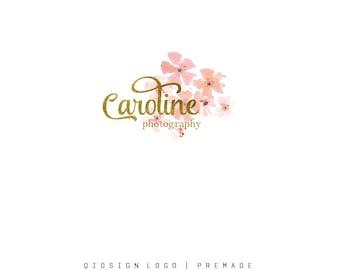 Custom Logo  Premade Logo  Gold Logo  Business Logo  Branding  Flower logo  Boutique Logo  photography logo  Watercolor