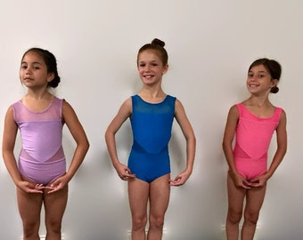 Custom Leotard, Girls Leotard, Adult Leotard, Ballet Leotard, Leotard with Mesh, Convention Dancewear, Custom Dancewear