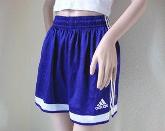 ADIDAS PURPLE SHORTS -sportswear, cyber, vaporwave, club kid, hip hop, sad boys, summer, festival, 90s, cute, aesthetic, sporty-