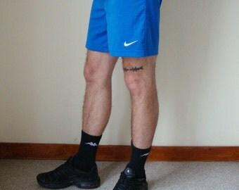 NIKE SHORTS -blue, sportswear, health goth, cyber, vapor wave, hip hop, training, sad boys, 90s, football, kappa, sporty-