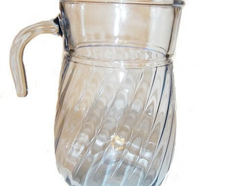 PREPAID SHIPPING..Light Blue Tint Pitcher