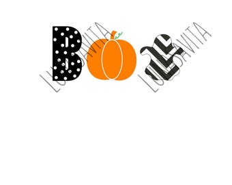 Boo Halloween Design SVG, DXF Files for Cricut Design Space, Silhouette Studio, Die Cut Machines, Instant Download of svg, dxf, & jpg