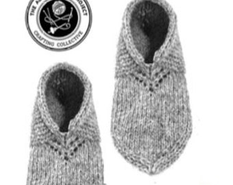 Nordic Slippers Knitting Pattern