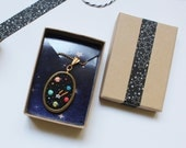 Hand embroidered ' Space ' Necklace by İrem Yazıcı