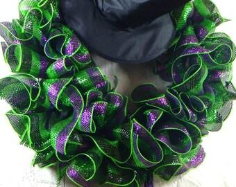 Witch Halloween Wreath, Halloween Wreath, Deco Mesh Wreath, Halloween Decoration