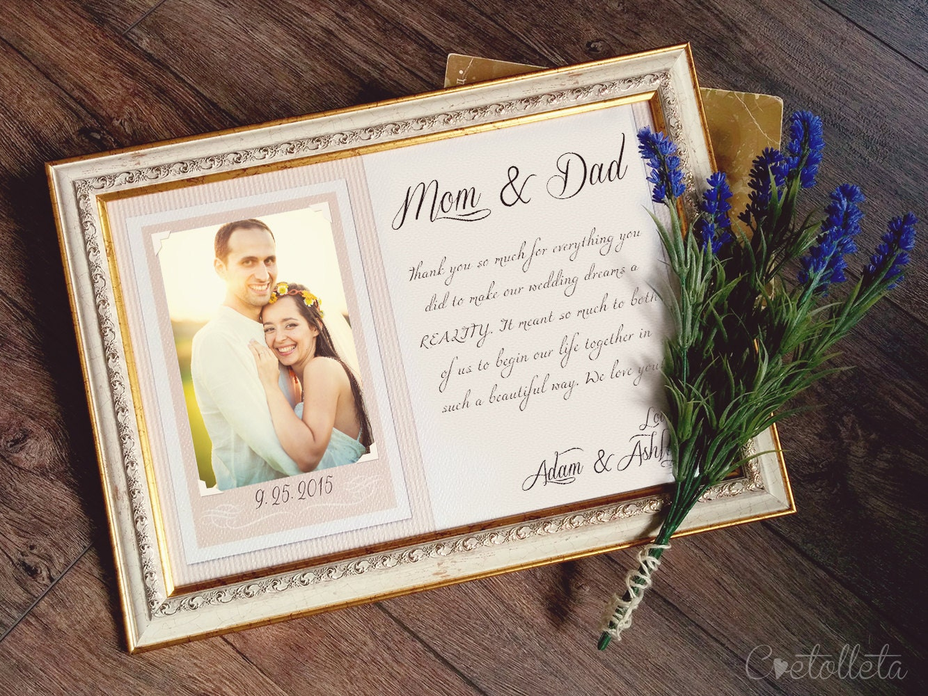 Gifts For Parents Wedding Thank You: Parents Wedding Gift-Parents Thank You Gift Wedding Gift For