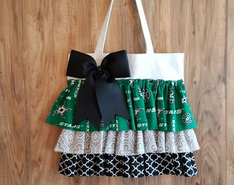 Dallas Stars Ruffle Tote Bag
