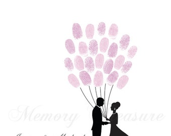 Wedding Thumbprint Guestbook Wedding Fingerprint Guestbook Tree Guestbook Fingerprint Tree Wedding Thumb print Guestbook Wedding Guestbook