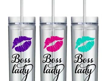 Boss Lady, Girl Boss, Boss Lady, Tumbler, Gift for Boss, Boss, Boss Gifts, Bpss Lady Mug