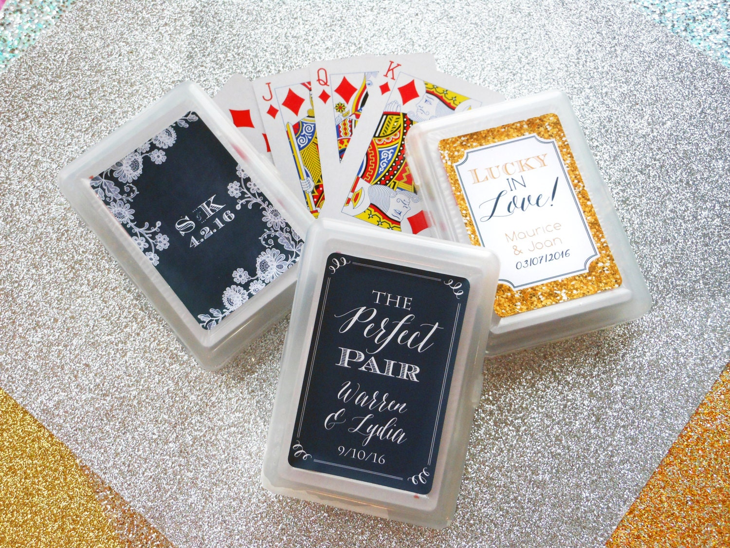 Photo Wedding Gifts: SET Of 10 Custom Playing Card Wedding Favor Personalized