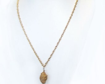 Long Necklace Chain - Gold Necklace - Long Thick Gold Twisted Rope Chain Necklace Large Gold Focal / Pendant