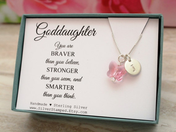 Goddaughter Gift For God Daughter Necklace By SilverStamped