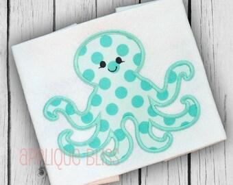 Octopus Applique Design - Animals - Ocean - Beach - Sea - Monogram - Machine Embroidery - Vacation - Summer