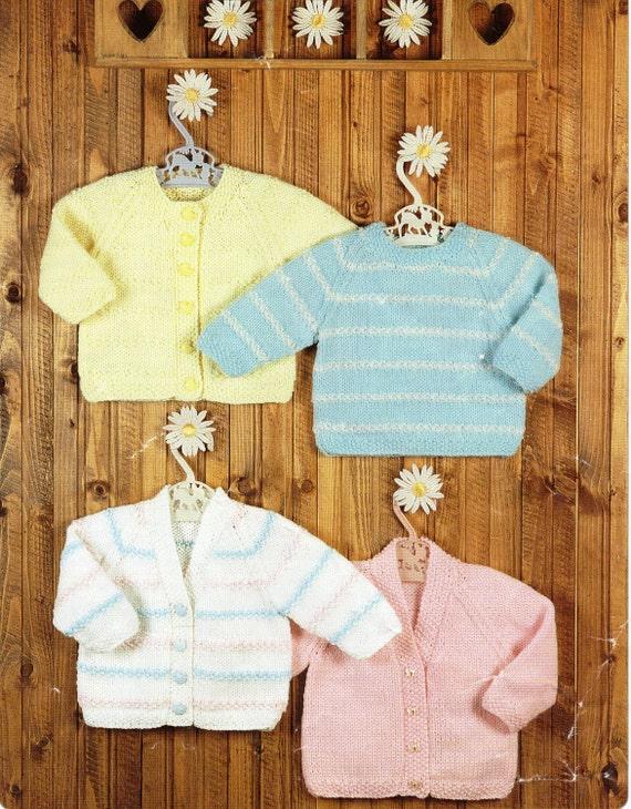 Knitting Pattern Cardigan 8 Ply : baby knitting pattern pdf baby cardigans baby sweater striped