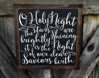 O HOLY NIGHT | Christmas Sign
