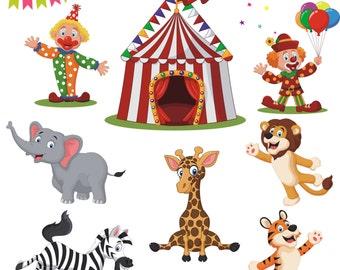 Circus Clipart, Circus Vector, Circus Clip Art, Clowns Clipart, Circus Printable, Circus Images, Carnival Clipart, Kids Clipart