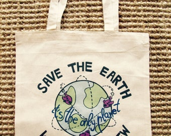 save the earth tote bag!