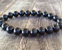 AAA Black Tourmaline Bracelet | Schorl Bracelet | Reiki Healing | Crystal Energy | Chakra Bracelet | Beaded Bracelet | Metaphysical