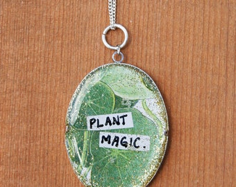 Plant Magic Handmade Resin Pendant