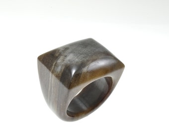 Size 10.5 Petrified Wood Ring