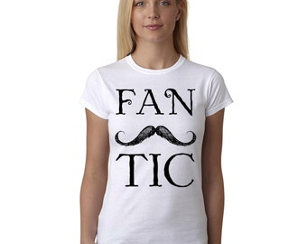 Moustache T Shirt Fantashtic Beard Hipster Holiday Women's