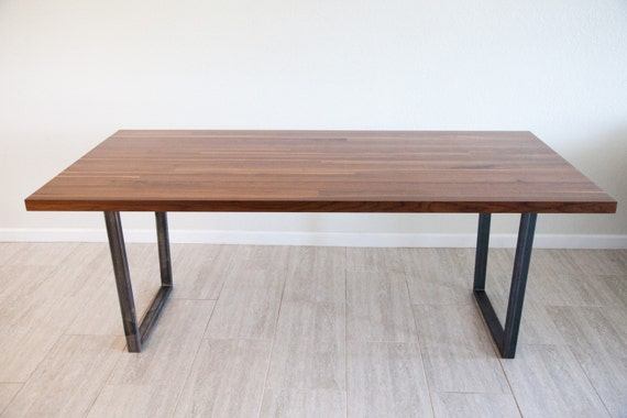 Dining table with metal supports for Dining table support