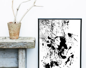 Watercolor Print, Scandinavian Art, Abstract Art Print, Black And White Art,  Giclee print, Wall Art,  Poster, Wall Decor