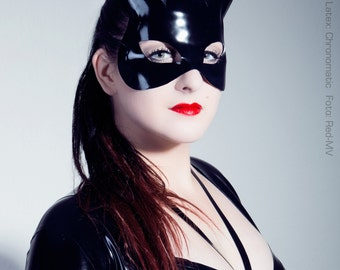 Kitty Latex Mask - Cat Goddess Bastet - Chronomatic Luxury Latex Wear