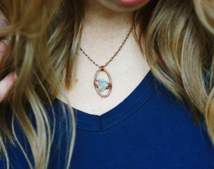 Aquamarine Necklace // March Birthstone