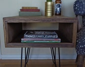 Reclaimed Wood Storage Side Table